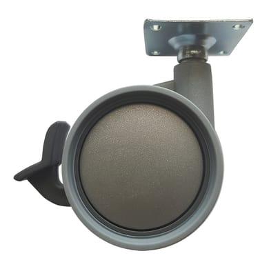 Ruota Design comodini; tavolini; cassettiere in caucciù grigio Ø 60 cm con freno