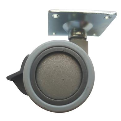 Ruota Design comodini; tavolini; mobili porta TV/PC in caucciù grigio Ø 40 cm con freno Ruota in caucciù grigio Ø 40 cm con freno