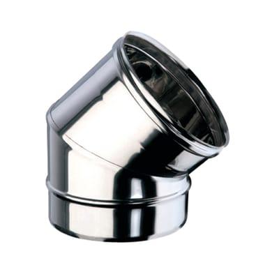 Curva 45° Curva inox aisi 316L a 45° Dn 150 mm in inox 316l (elevata resistenza in condizioni climatiche estreme)
