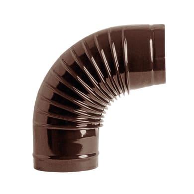 Curva 90° Curva smaltata marrone a 90° Dn 130 mm in acciaio al carbonio
