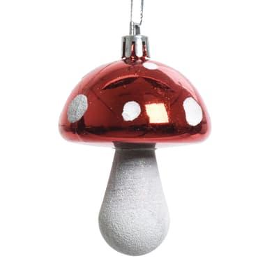 Fungo in plastica bianco e rosso Ø 5 cm