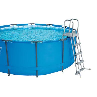 Scaletta per piscina in metallo per piscina fuori terra 122 cm