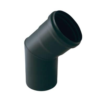 Curva 45° Curva smaltata nera  a 45° Dn 80 mm in acciaio al carbonio
