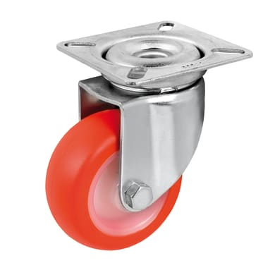 Ruota TELLURE in poliuretano rosso Ø 30 cm