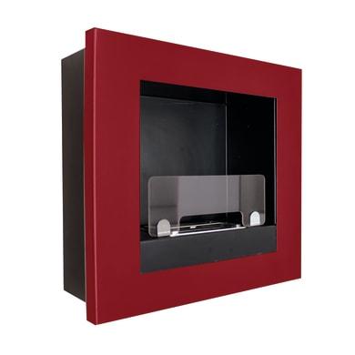Caminetto a bioetanolo per parete Asolo 0.9 L rosso