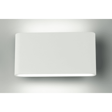 Applique Delta LED integrato in alluminio, bianco, 5W 500LM IP54