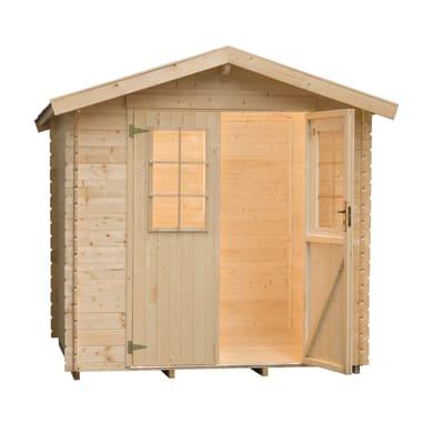 Casetta da giardino in legno Helli,  superficie interna 3.76 m² e spessore parete 28 mm