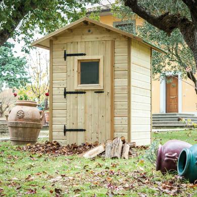 Casetta da giardino in legno Alby,  superficie interna 2.22 m² e spessore parete 19 mm