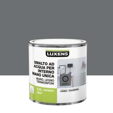 Smalto LUXENS Manounica base acqua grigio granito 2 satinato 0.5 L