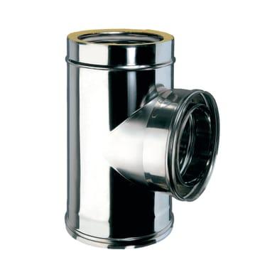 Raccordo a t in inox 316l (elevata resistenza in condizioni climatiche estreme) Ø 80 mm