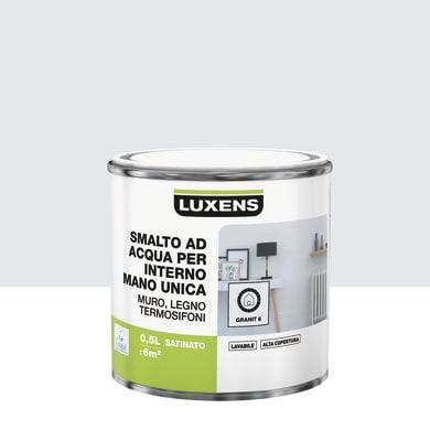 Vernice di finitura LUXENS Manounica base acqua grigio granito 6 satinato 0.5 L