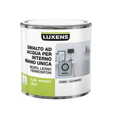 Smalto LUXENS base acqua grigio parigi 5 satinato 0.5 L