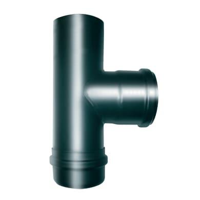 Tee Raccordo T a 90° smaltato nero Dn 100 mm in acciaio al carbonio