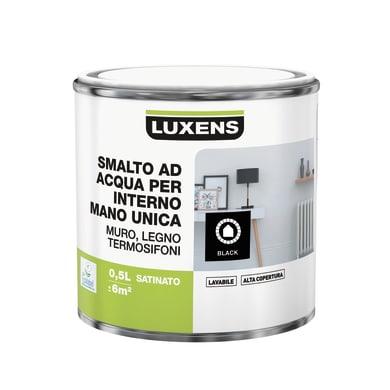 Smalto LUXENS Manounica base acqua nero satinato 0.5 L