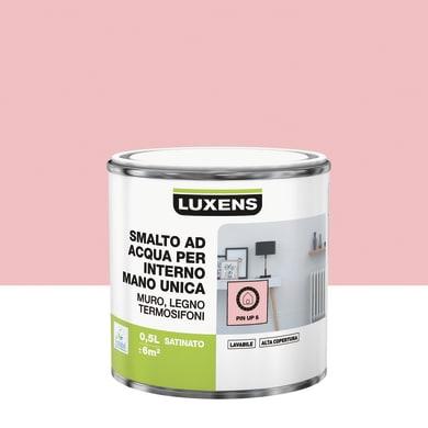 Vernice di finitura LUXENS Manounica base acqua rosa pinup 6 satinato 0.5 L