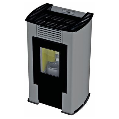 Stufa a pellet ventilata Aurora 9.29 kW grigio