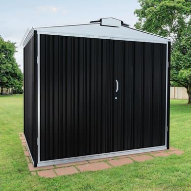 Casetta da giardino in acciaio zincato Atlanta,  superficie interna 6.27 m² e spessore parete 0.6 mm