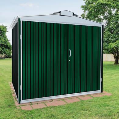 Casetta da giardino in metallo Atlanta,  superficie interna 8.54 m² e spessore parete 0.6 mm