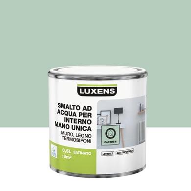 Vernice di finitura LUXENS Manounica base acqua verde cactus 6 satinato 0.5 L