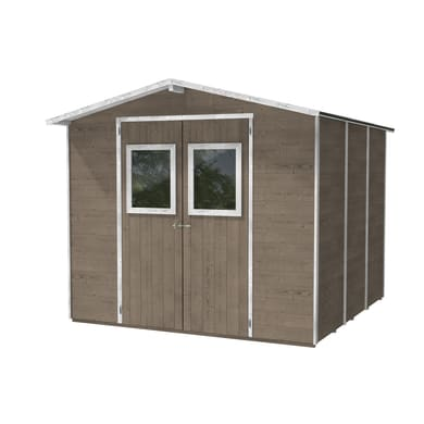 Casetta da giardino in legno Vaniglia,  superficie interna 4.73 m² e spessore parete 19 mm