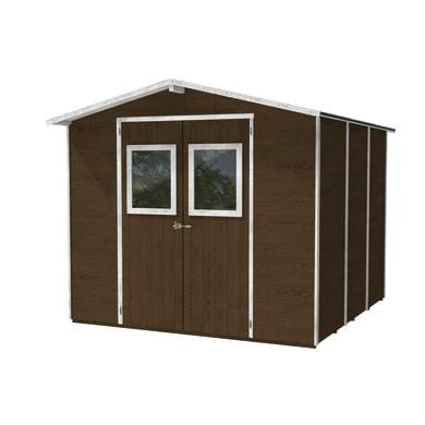 Casetta da giardino in legno Vaniglia,  superficie interna 5.64 m² e spessore parete 19 mm