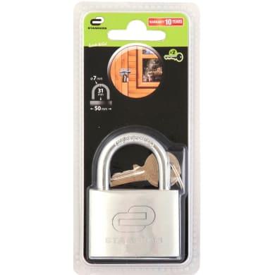 Lucchetto con chiave STANDERS in acciaio ansa H 22 x L 25 x Ø 7.2 mm