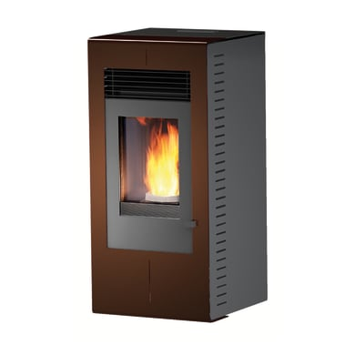 Stufa a pellet ventilata Platinum 6 kW bronzo