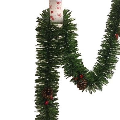 Ghirlanda natalizia verde L 250 cm , Ø 15 cm
