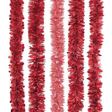 Ghirlanda natalizia rosso L 200 cm , Ø 8 cm