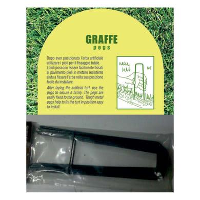 Graffe per prato sintetico L 0.175 m 10 pezzi