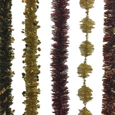 Ghirlanda natalizia multicolore L 200 cm , Ø 8 cm