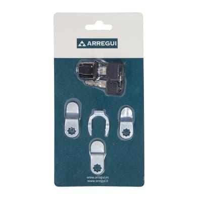 Serratura della cassetta postale ARREGUI Set per cassette postali in acciaio L 11 x H 21 cm