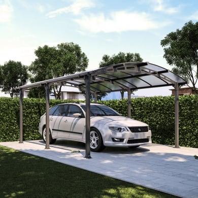 Carport in alluminio Siena L 500  x P 362  x H 242