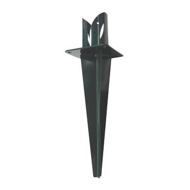 Supporto per palo   in acciaio verde x H 13