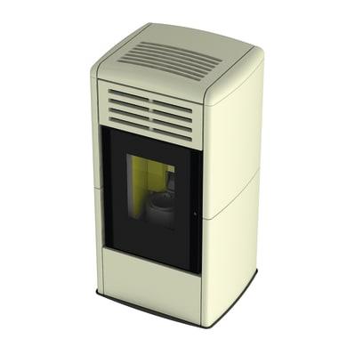 Stufa a pellet ventilata Fuocolà 9.29 kW avorio