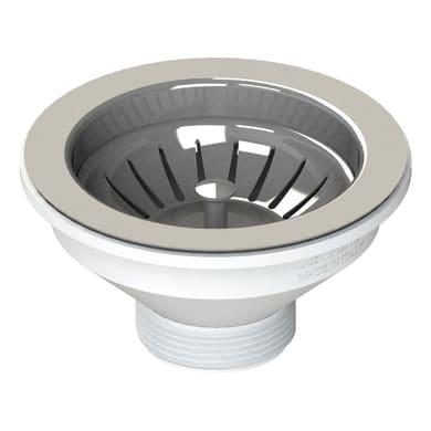 Piletta standard in inox per lavello e lavabo Ø 114 mm