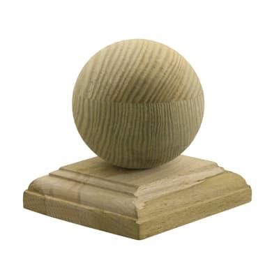 Terminale per colonna in legno naturale H 12.4 cm 25 pezzi