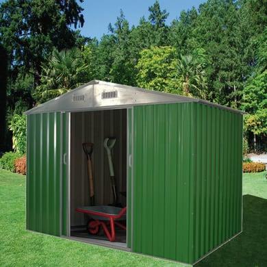 Casetta da giardino in metallo Varna,  superficie interna 2.96 m² e spessore parete 0.27 mm