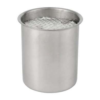 Biobruciatore per pavimento ricambio rotondo 0.5 L grigio / argento