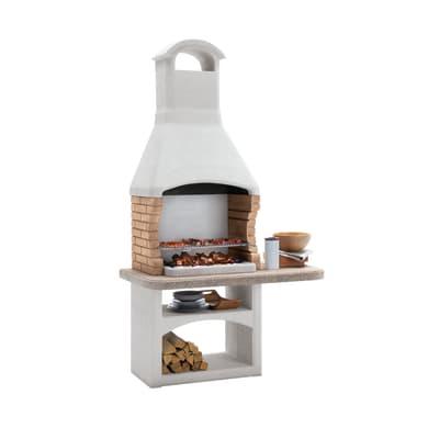 Barbecue in cemento refrattario PALAZZETTI Boavista L 128 x P 71 x H 238 cm