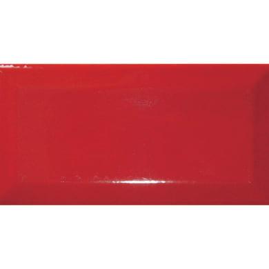 Piastrella per rivestimenti Metro 7.5 x 15 cm sp. 7 mm rosso