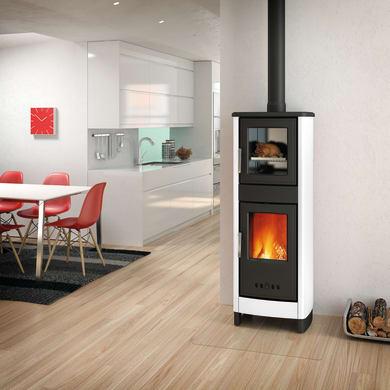Stufa a legna con forno SUPERIOR Malika 6.2 kW bianco