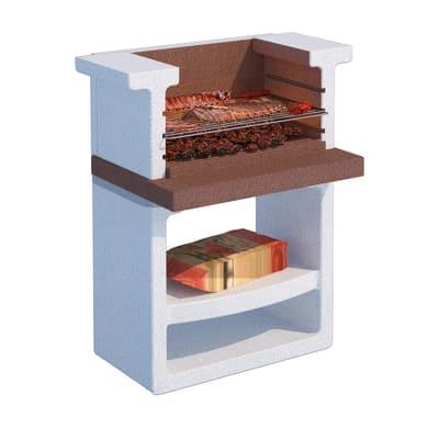 Barbecue in cemento refrattario LINEA VZ New Greta senza cappa L 58 x P 58 x H 115 cm