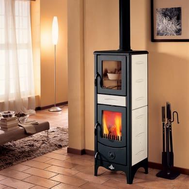 Stufa a legna con forno SUPERIOR Milena 6.2 kW sale pepe