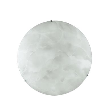 Plafoniera Canova bianco, in vetro, diam. 45 , IP20