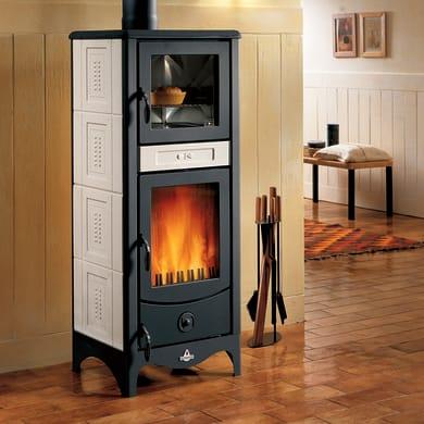 Stufa a legna con forno SUPERIOR Sara 8 kW sale pepe