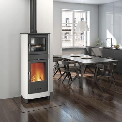 Stufa a legna con forno SUPERIOR Savina 8 kW bianco