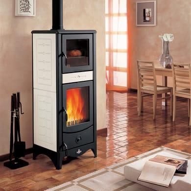 Stufa a legna con forno SUPERIOR Simona 8 kW sale pepe