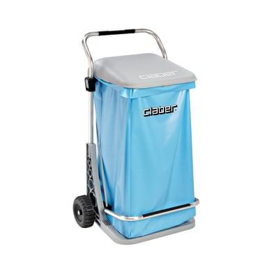 Pattumiera in poliestere CLABER Carry Cart Comfort 125 L 2 ruote