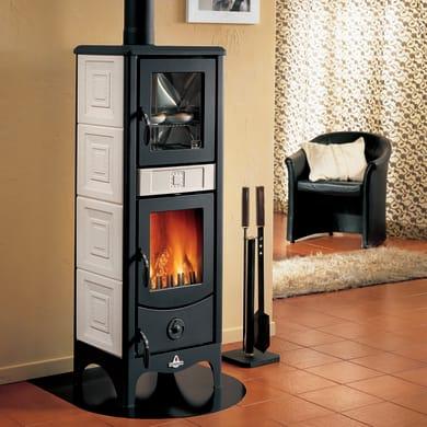 Stufa a legna con forno SUPERIOR Maddalena 6.2 kW sale pepe